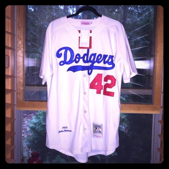 hot sale online cf083 7deb9 ⚾️NWT #42 JACKIE ROBINSON BROOKLYN DODGERS JERSEY Boutique